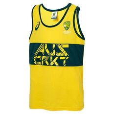 Cricket Australia 2018/19 Kids Supporter Singlet Yellow 6, Yellow, rebel_hi-res