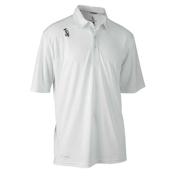 Kookaburra Mens Pro Active Cricket Shirt, White, rebel_hi-res