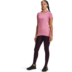 Under Armour Womens HeatGear Armour Tee, Pink, rebel_hi-res