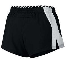 Nike Womens Elevate Running Shorts Black / White XS, Black / White, rebel_hi-res