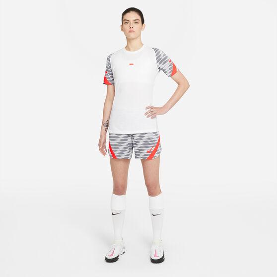 Nike Womens Dri-FIT Strike Soccer Shorts, White, rebel_hi-res