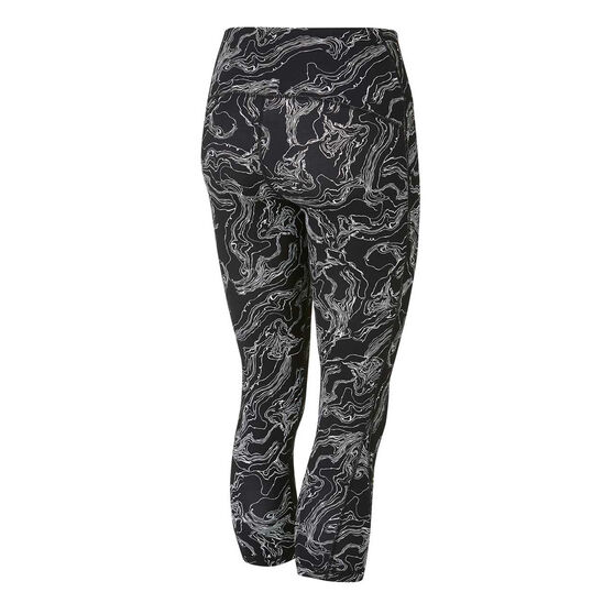 Ell & Voo Womens Tessa 3/4 Printed Tights Print XS, Print, rebel_hi-res
