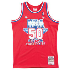 NBA All-Star West 1991 David Robinson Swingman Jersey Red / White S, Red / White, rebel_hi-res