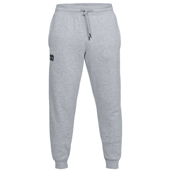 Under Armour Mens UA Rival Fleece Jogger Pants, Grey / Black, rebel_hi-res