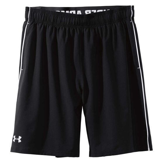 Under Armour Mens Mirage 8in Training Shorts, Black / White, rebel_hi-res