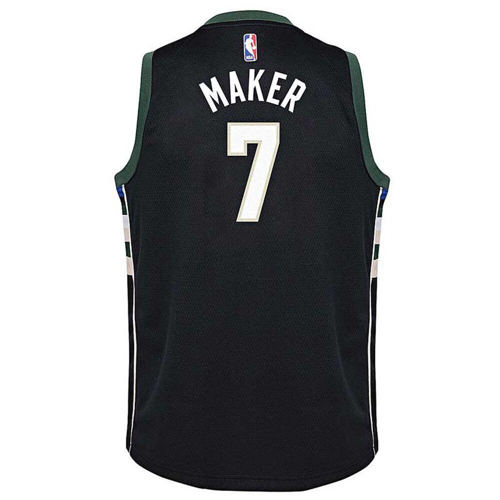 e6ea7fc0c89 Nike Milwaukee Bucks Thon Maker Kids Statement Swingman Jersey Black S,  Black, rebel_hi-