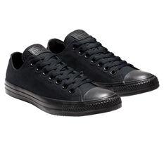 Converse Chuck Taylor All Star Low Casual Shoes, Black, rebel_hi-res