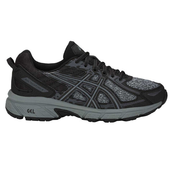 Asics Gel Venture 6 D Womens Trail Running Shoes Black / Grey US 11, Black / Grey, rebel_hi-res