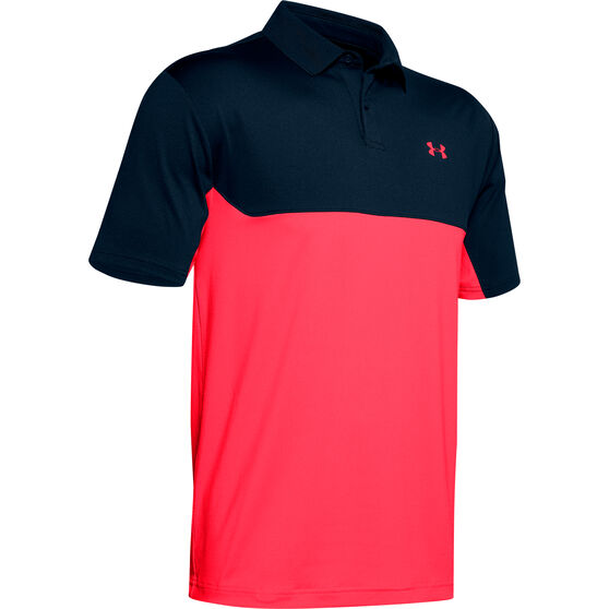 Under Armour Mens Colorblock Performance Polo, Navy, rebel_hi-res