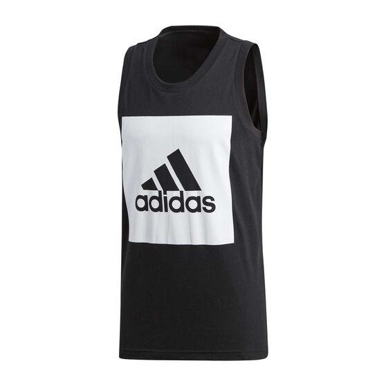 4d6add203bdcd adidas Mens Essentials Tank Top Black   White XL