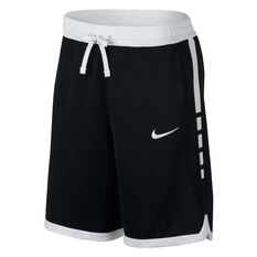 Nike Mens Dri-FIT Elite Basketball Shorts Black / White S, Black / White, rebel_hi-res