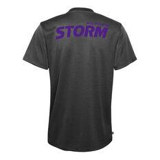 Melbourne Storm 2021 Mens Performance Tee Black S, Black, rebel_hi-res