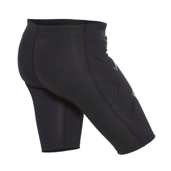 2XU Girls Core Compression Shorts, Black, rebel_hi-res