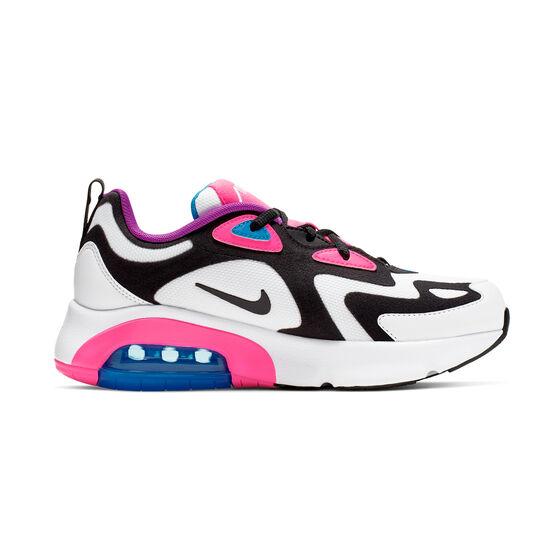 Nike Air Max 200 Kids Casual Shoes, White / Pink, rebel_hi-res