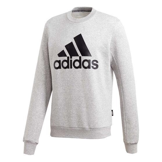 adidas Mens Must Haves Badge of Sport Sweatshirt, Grey, rebel_hi-res