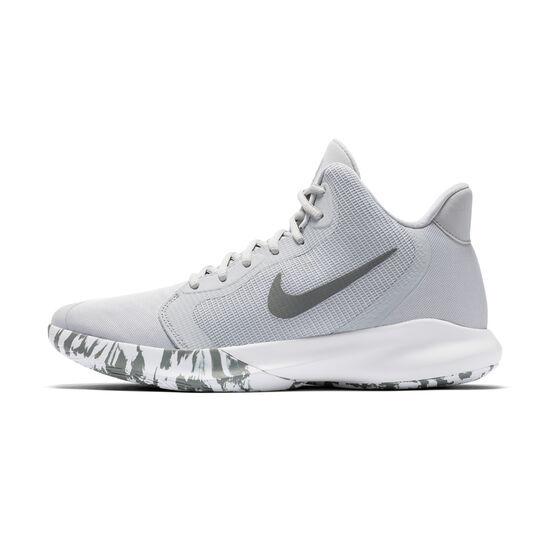 Nike Precision III Mens Basketball Shoes Grey US 8.5, Grey, rebel_hi-res