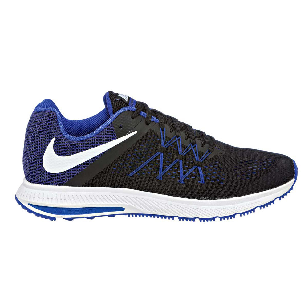 04e44d031909 Nike Zoom Winflo 3 Mens Running Shoes Black   Blue US 10.5