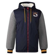 Adelaide Crows Mens Sideline Jacket Blue S, Blue, rebel_hi-res