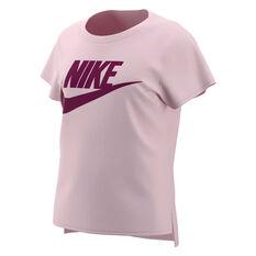 Nike Girls Sportswear Basic Futura Tee Pink XS, Pink, rebel_hi-res