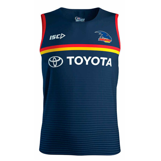 Adelaide Crows 2020 Mens Training Singlet, Navy, rebel_hi-res