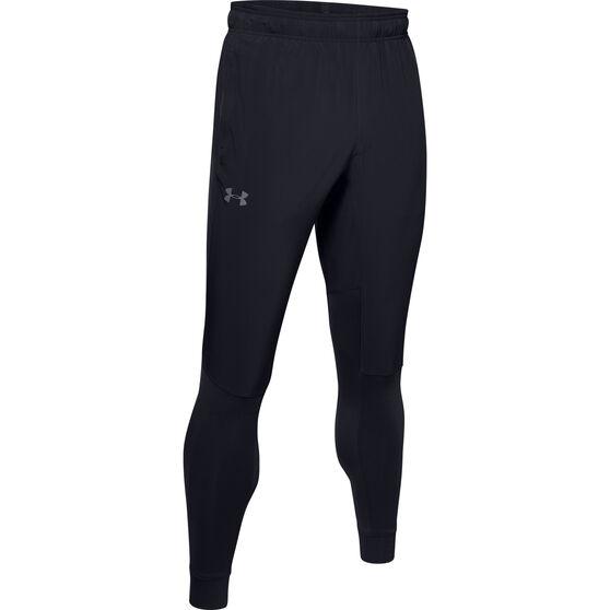 Under Armour Mens Hybrid Performance Pants, Black, rebel_hi-res
