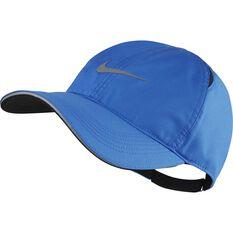 Nike Mens Dri-FIT Featherlight Aerobill Cap Blue OSFA, Blue, rebel_hi-res