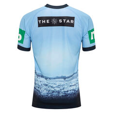 NSW Blues State of Origin 2020 Mens Captains Run Drill Top Blue S, Blue, rebel_hi-res
