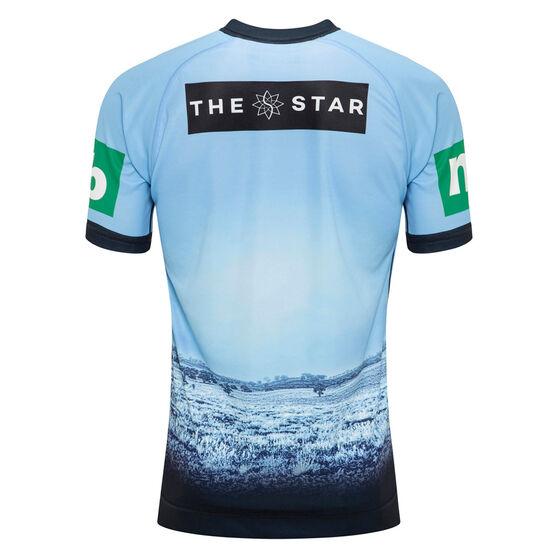 NSW Blues State of Origin 2020 Mens Captains Run Drill Top, Blue, rebel_hi-res