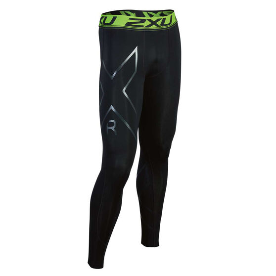 2XU Mens Refresh Recovery Compression Tights, , rebel_hi-res