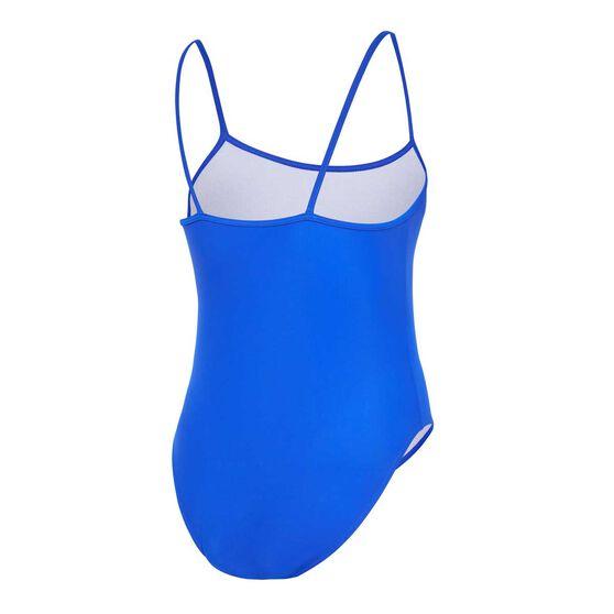 Zoggs Girls Classic Back Swimsuit, Blue, rebel_hi-res