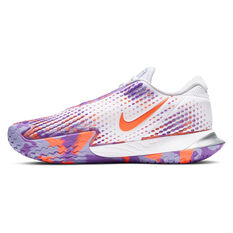 Nike Air Zoom Vapor Cage 4 Womens Tennis Shoes White/Purple US 6, White/Purple, rebel_hi-res