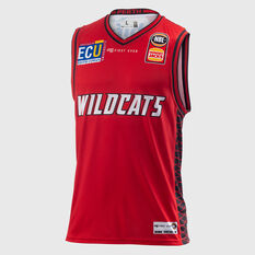 Perth Wildcats 2018 / 19 Mens Home Jersey Red S, Red, rebel_hi-res