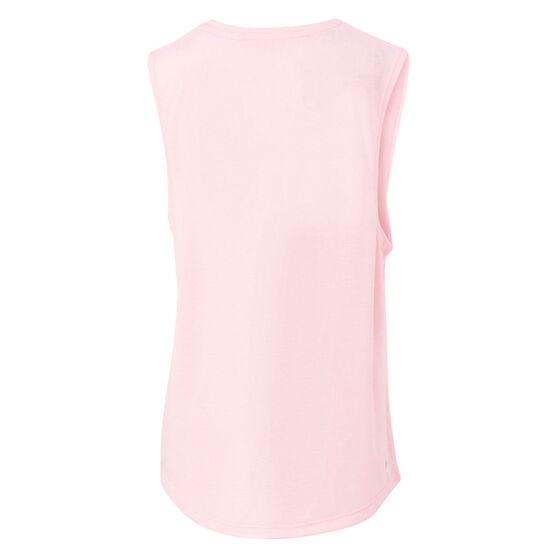 Ell & Voo Girls Abigail Logo Muscle Tank, Pink, rebel_hi-res