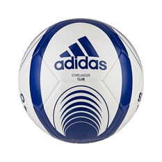 adidas Starlancer Club Soccer Ball White Blue 3, White Blue, rebel_hi-res