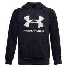 Under Armour Boys VF Rival Fleece Hoodie Black XS, Black, rebel_hi-res