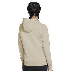 Nike Womens Sportswear Essentials Full Zip Hoodie Beige XS, Beige, rebel_hi-res