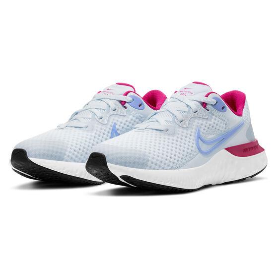 Nike Renew Run 2 Kids Running Shoes, Grey/Purple, rebel_hi-res