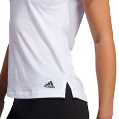 adidas Womens Prime Tee, White, rebel_hi-res
