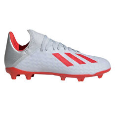 adidas X 19.3 Kids Football Boots Silver / Red US 11, Silver / Red, rebel_hi-res