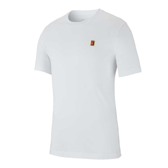 Nike Mens Court Heritage Tennis Tee, White, rebel_hi-res