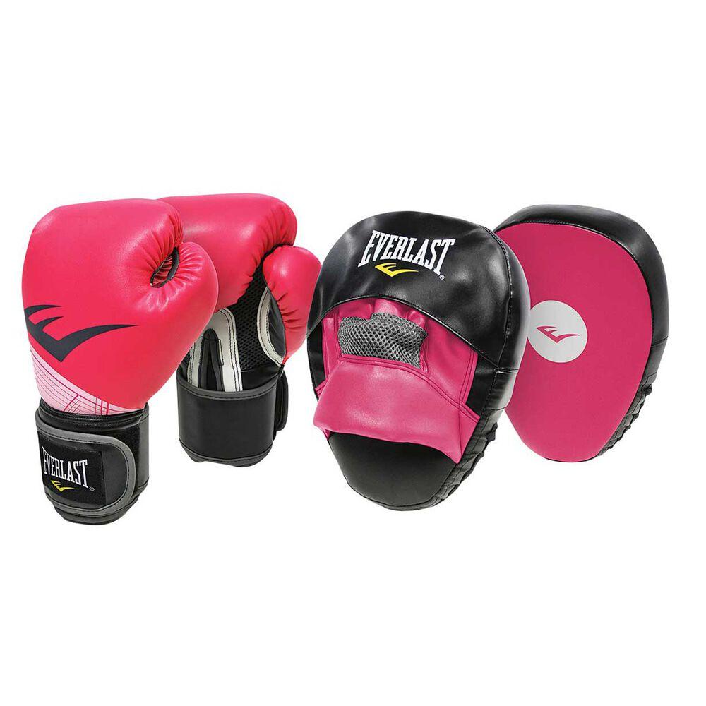 Rebel Sport Inner Gloves: Everlast Boxing Glove And Mitt Combo Pink 10oz