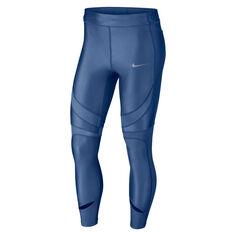 Nike Womens Power Speed 7/8 Tights Blue XS, Blue, rebel_hi-res