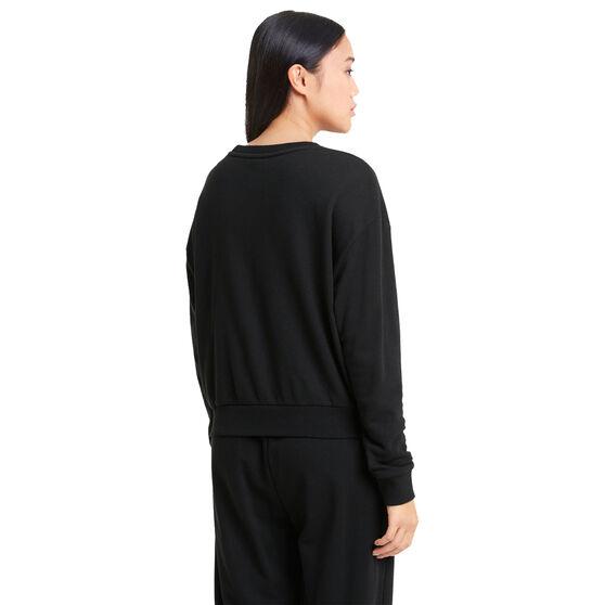 Puma Womens Modern Basics Sweater, Black, rebel_hi-res
