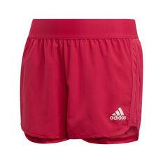 adidas Girls Marathon Training Shorts Purple 8, Purple, rebel_hi-res
