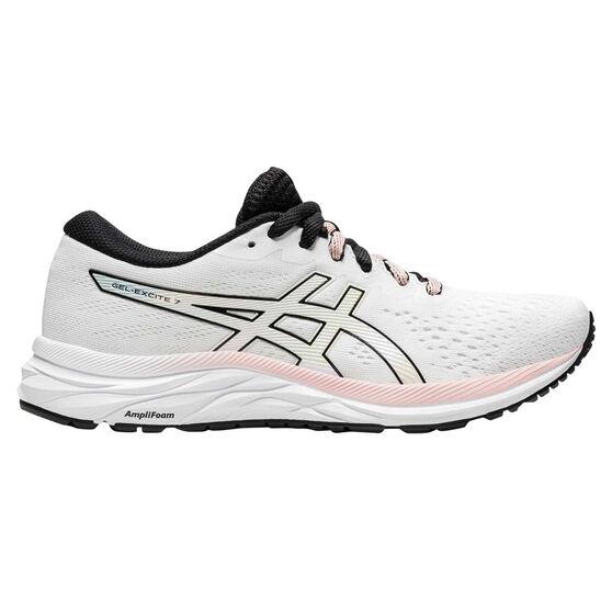 Asics GEL Excite 7 Womens Running Shoes White/Black US 11, White/Black, rebel_hi-res