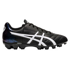 Asics Lethal Tigreor IT Kids Football Boots Black / White US 1, Black / White, rebel_hi-res