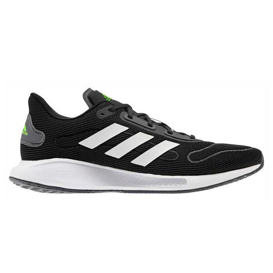 adidas Galaxar Run Mens Running Shoes, Black/White, rebel_hi-res