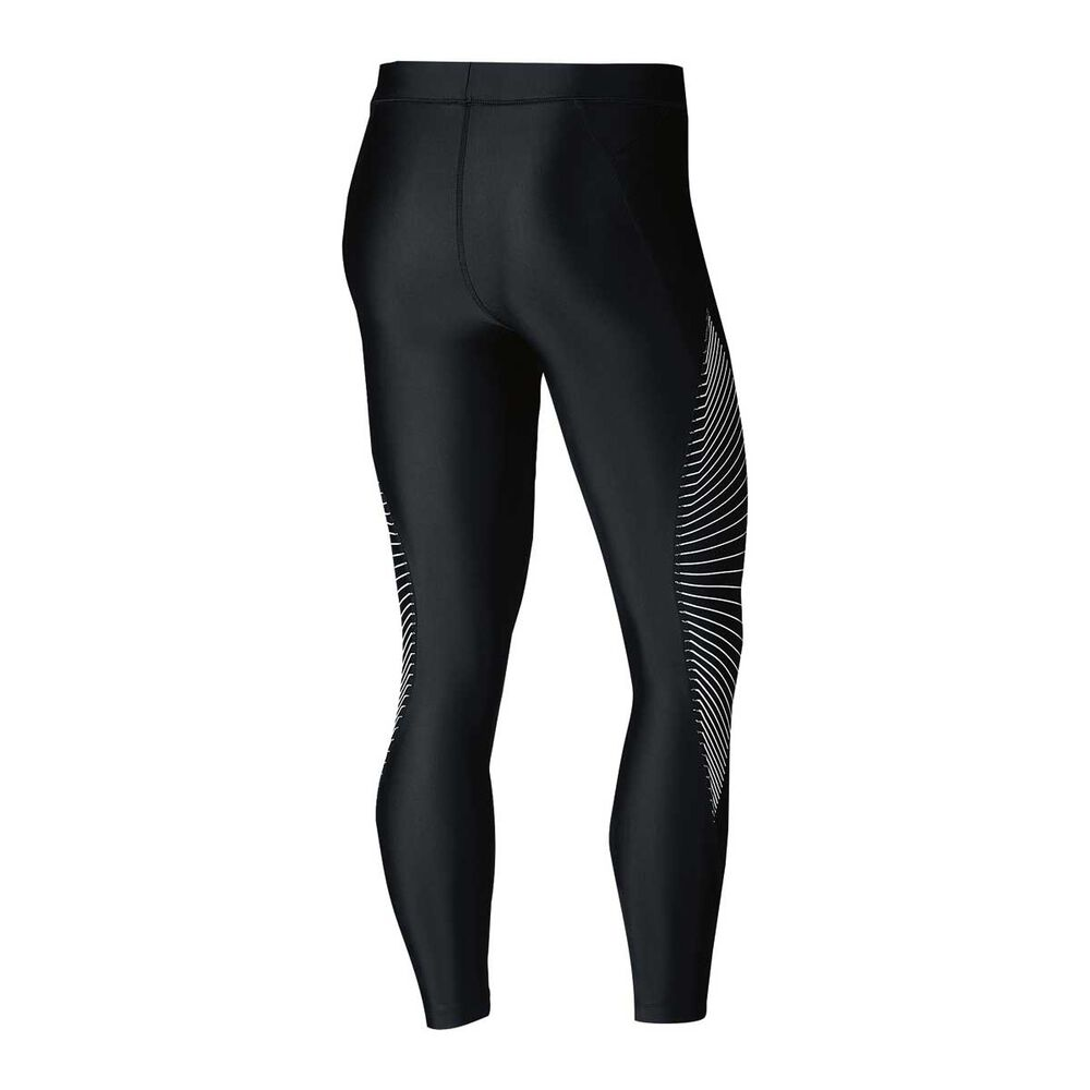 f9b8407838760 Nike Womens Power Speed 7   8 Graphic Running Tights Black   Silver ...