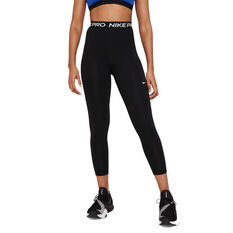 Nike Pro Womens 365 High-Rise 7/8 Tights, Black, rebel_hi-res