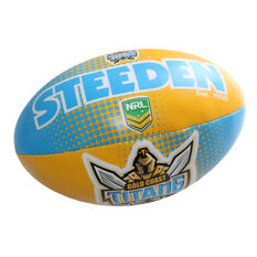 Gray Nicolls NRL Gold Coast Titans Sponge Rugby Ball, , rebel_hi-res